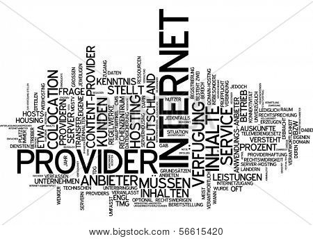 Word cloud -  internet service provider