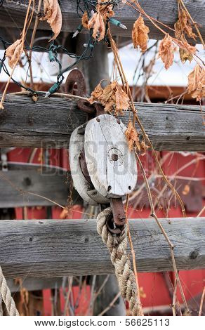 Rustic Rope and Pulley