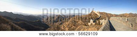 Great Wall of China at Jinshanling - Panorama