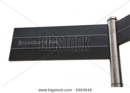 Broadband Themed Street Sign