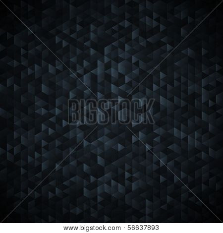 Black abstract background. Sequins mosaic pattern.