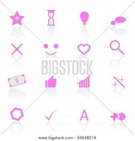 Idea Symbol Icons With Reflect
