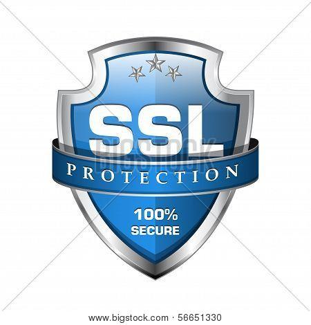 Icono de escudo seguro SSL protección