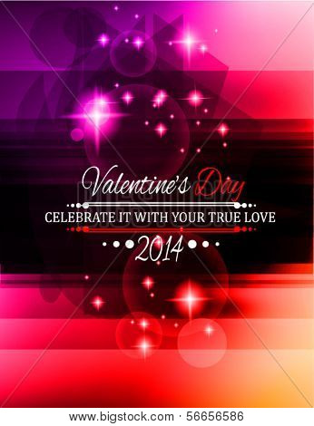 Valentine's Day template with stunning colors for your flyer backgrounds.