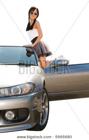 Girl By Car