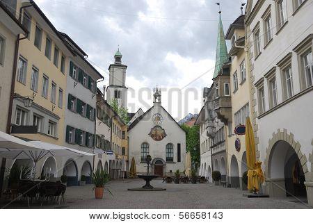 Townscape of Feldkirch Vorarlberg Austria