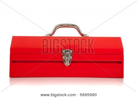 A Red Metal Toolbox