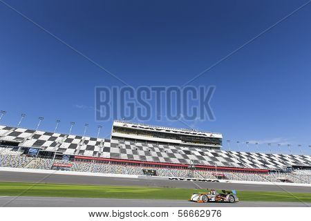 Daytona Beach, FL - Jan 03, 2014:  The Tudor United SportsCar Championship teams take to the track for the Roar Before the Rolex 24 at Daytona International Speedway in Daytona Beach, FL.