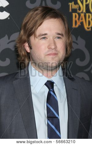 """LOS ANGELES - JAN 7:  Haley Joel Osment at the IFC's """"The Spoils Of Babylon"""" Screening at Directors Guild of America on January 7, 2014 in Los Angeles, CA"""