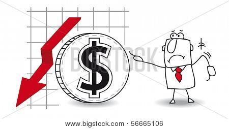 fluctuation of the Dollar  down