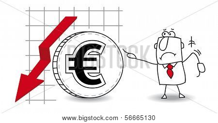 fluctuation of the euro down
