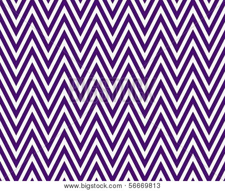 Thin Dark Purple and White Horizontal Chevron Striped Textured Fabric Background that is seamless and repeats poster