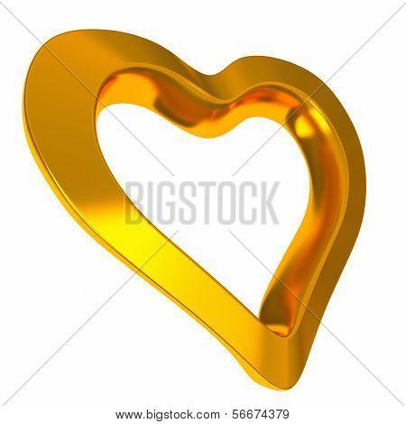 Golden heart, 3d