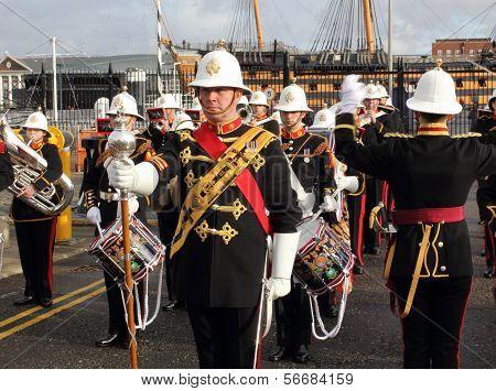 The royal marines marching band