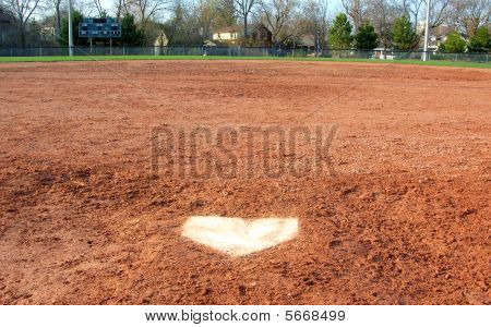 Baseball Home plate (Catcher's View)