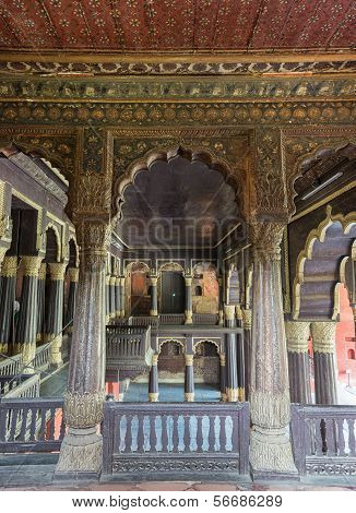 Upper Floor Of Tipu Sultan Palace In Bangalore.