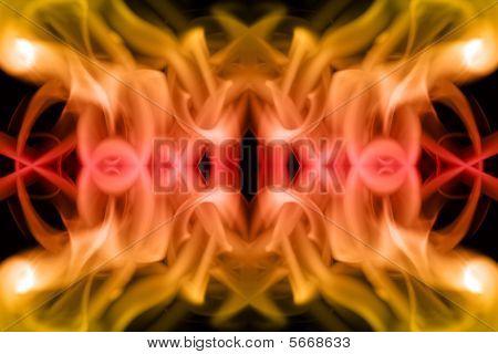 Red & Orange Smoke Pattern