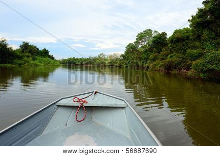 River boat at Pantanal