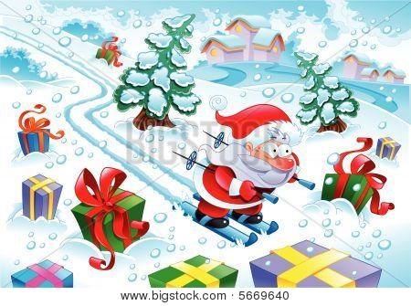 Santa Claus in the snow -