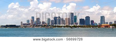 City of Miami Florida cityscape of downtown