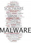 Word cloud - malware poster