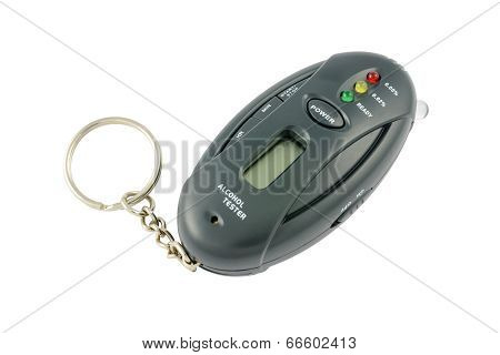 Pocket alcohol tester on a keychain