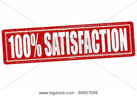 Stamp with word satisfaction inside vector illustration poster