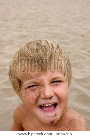 Sand On Face