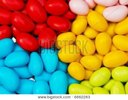 Chocolate Eggs Of Various Colours