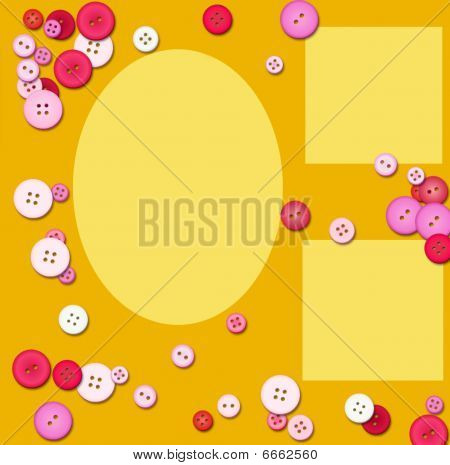 Button picture frames - scrapbooking