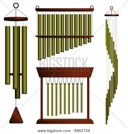 Wind chime collection