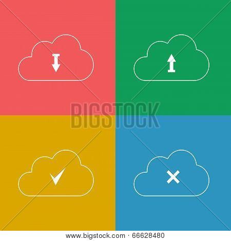 Set Cloud with Download Arrow