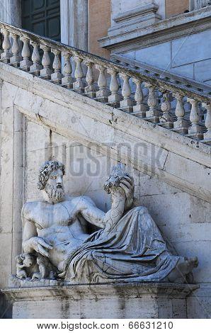 Statue Of The Tiber River God