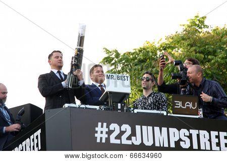LOS ANGELES - JUN 10:  Channing Tatum, Jonah Hill at the