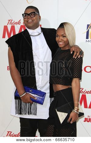 LOS ANGELES - JUN 9:  EJ Johnson, Elisa Johnson at the