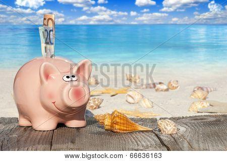 Piggy Bank Savings Für Vacation