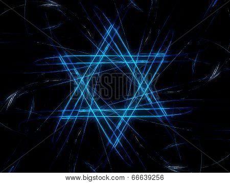 Jewish David Star Design