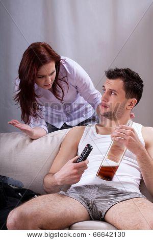 Lazy Man Drinking Whiskey