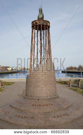 Monument in Holocaust Memorial Park in Brooklyn