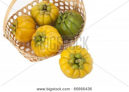 Garcinia Cambogia on white background with path poster