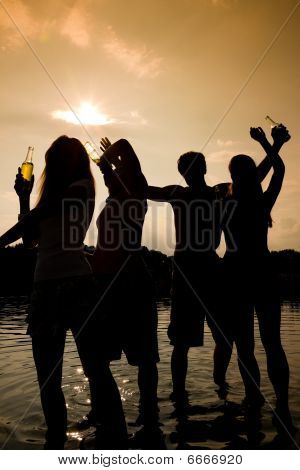 Party in the water