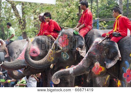 Water Splashing Festival In Thailand