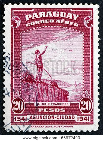 Postage Stamp Paraguay 1942 The Indian Francisco