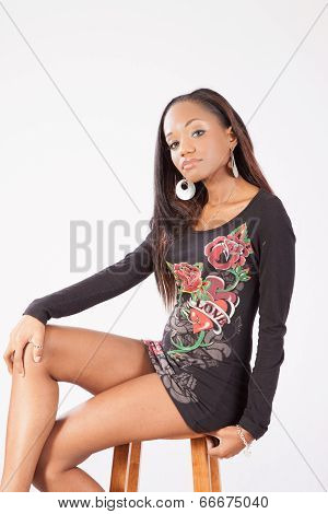 Black woman sitting