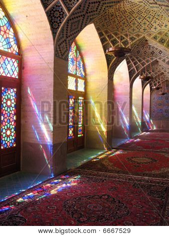 Colourful light in a mosque