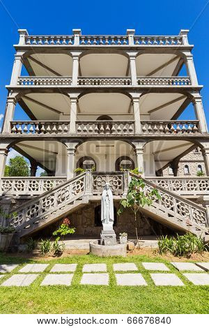 Side View Of La Domus, The Imposing Residence Of The Roman Catholic Priesthood In Victoria, Mahe, Se