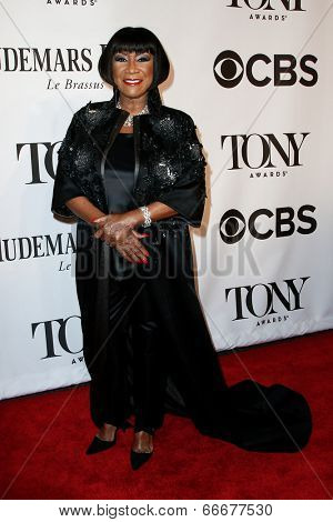 NEW YORK-JUNE 8: Singer Patti LaBelle attends American Theatre Wing's 68th Annual Tony Awards at Radio City Music Hall on June 8, 2014 in New York City.
