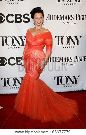 NEW YORK-JUNE 8: Actress Fran Drescher attends American Theatre Wing's 68th Annual Tony Awards at Radio City Music Hall on June 8, 2014 in New York City.