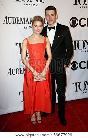 NEW YORK-JUNE 8: Actors Brian J. Smith (R) and Celia Keenan-Bolger attend American Theatre Wing's 68th Annual Tony Awards at Radio City Music Hall on June 8, 2014 in New York City.
