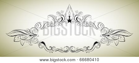 Vector floral frame in a classical style